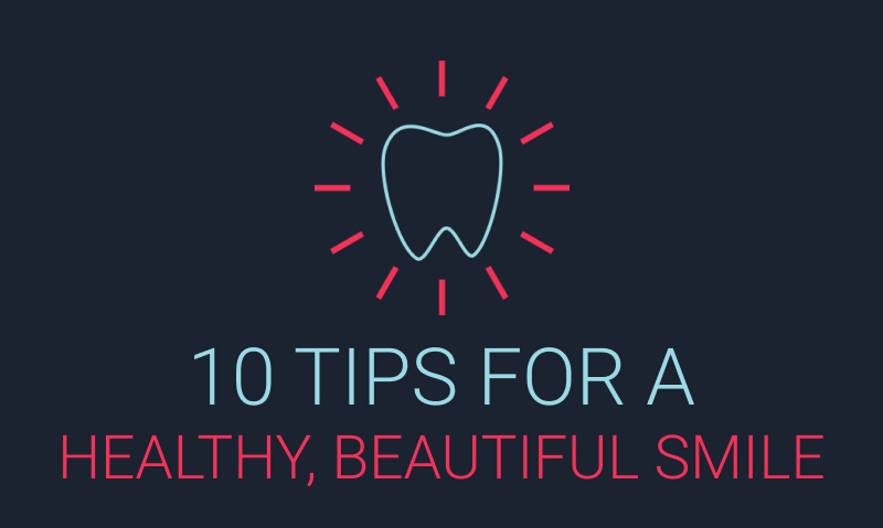 10 Tips for a Healthy and Beautiful Smile Infographic